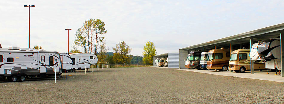We provide covered and outside RV Storage.